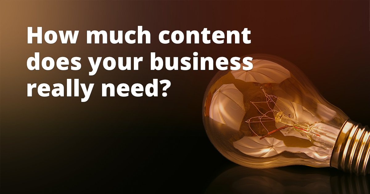 Teaser image - How Much Content Does Your Business Really Need?